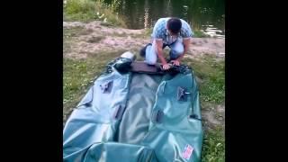 Як правильно згортати човен ПВХ з жорстким транцем
