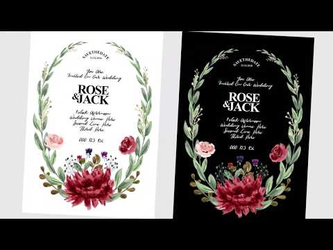 Illustrator Tutorials | Watercolor, Wedding Card, Floral Ornamental, Brushes, TL