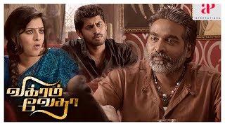 Vikram Vedha Movie Action Scene | Vijay Sethupathi reveals the truth about Prem | Vivek Prasanna