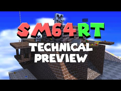 Super Mario 64 Ray Tracing (sm64rt) - Technical Preview Trailer
