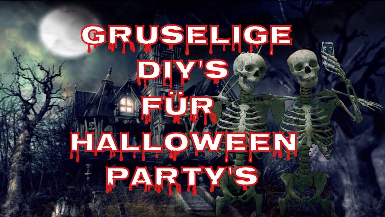 gruselige diy 39 s f r halloween party 39 s deko vorschl ge ideen cool examples and ideas youtube. Black Bedroom Furniture Sets. Home Design Ideas