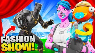 I let a 9 YEAR OLD Host my FASHION SHOW! (Fortnite)