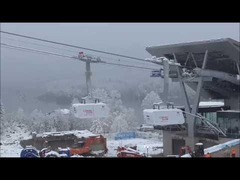 Testfahrt 1. Fahrgastkabine auf die Zugspitze