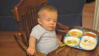 Dog Bark Wakes Baby Falling Asleep While Eating