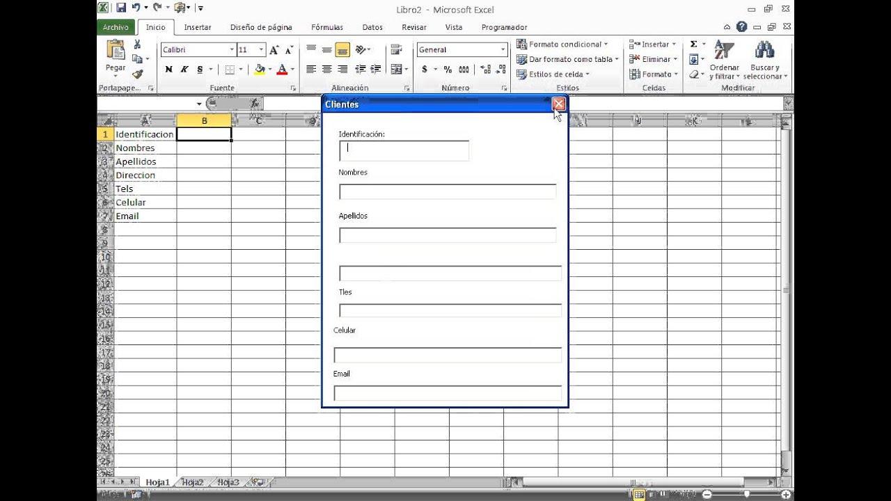 Cómo crear formularios de excel, para almacenar datos en una base de ...