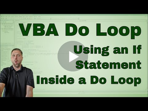 Do Loop Through A Table With An If Statement In Excel VBA -Code Included