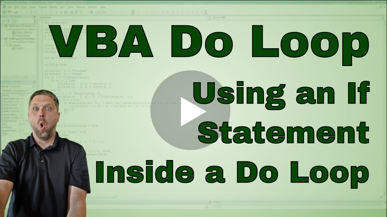 Excel Vba Macro Do Loop Through A Table With An If Statement Code
