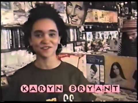 Jellyfish in Record store with MTV Karyn Bryant