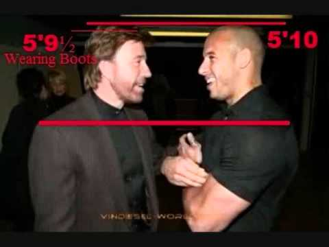 How tall is Vin Diesel...