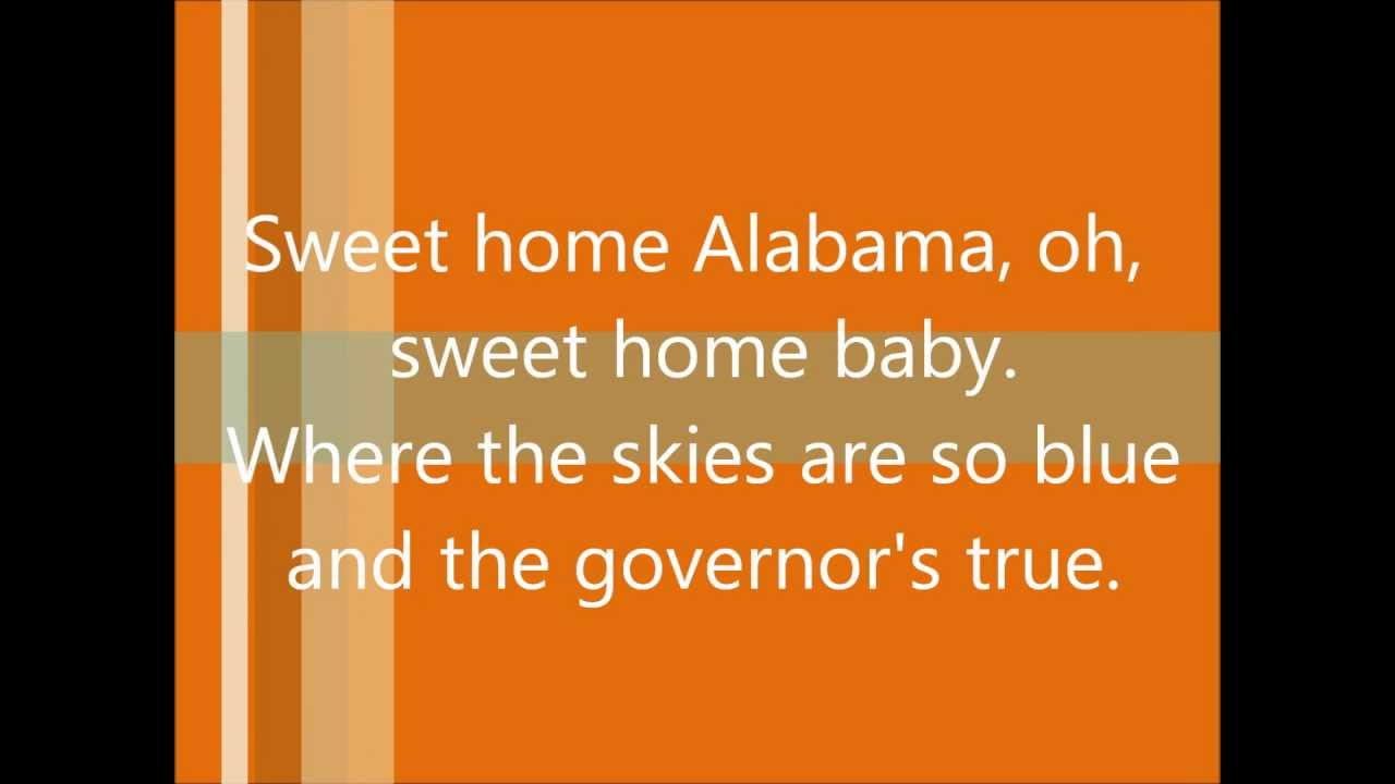 The song was written in response to neil young's southern man that was released in 1970 because it took the entire south to task for the bloody history of slavery and its aftermath. Sweet Home Alabama By Lynyrd Skynyrd Lyrics Youtube