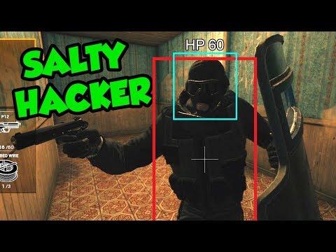 ANOTHER SALTY HACKER! | Rainbow Six Siege FUNTAGE! - Against Hacker!