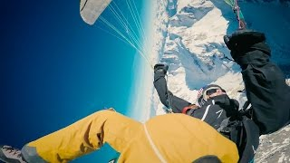 Acrobatic Paragliding Above Mt. Blanc - Europe's Highest Mountain