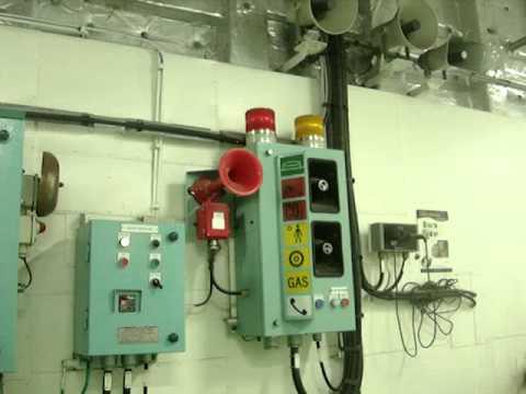 CO2 Discharge Alarm in Engine Room Test