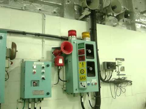 Co2 Discharge Alarm In Engine Room Test Youtube