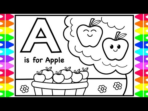 coloring-alphabets-for-kids- -a-is-for-apple-coloring-page- -abc-coloring-pages-kids- -fun-coloring
