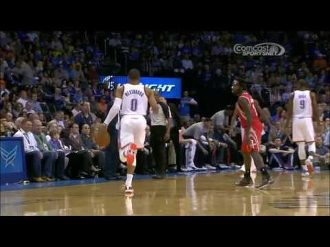 Russell Westbrook loses cool when Patrick Beverley goes for a steal