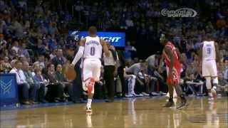 Repeat youtube video Russell Westbrook loses cool when Patrick Beverley goes for a steal
