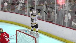 NHL 14 - Demo - NHL 94 Mode Gameplay - Bruins Vs Blackhawks