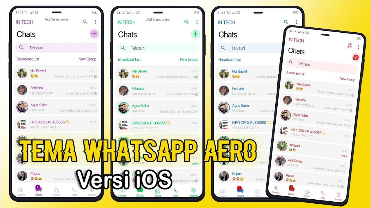 BAGI BAGI TEMA WhatsApp Aero Versi iOS Terbaru 2020 - YouTube