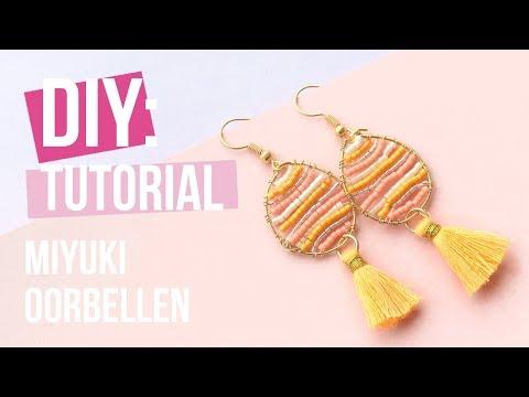 Sieraden maken: Oorbellen met Miyuki en Artistic Wire ♡ DIY