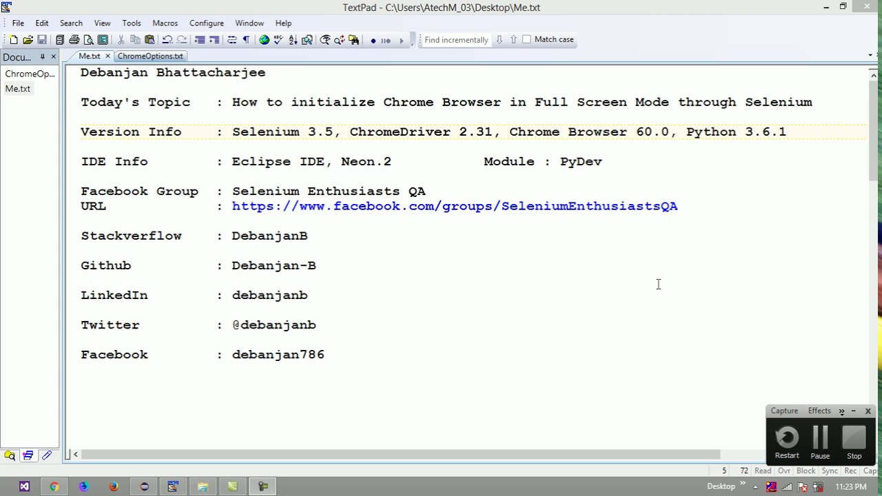How to initialize Chrome Browser in Maximized Mode through Selenium (Python  3 6 1)