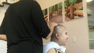 My client with trichotillomania (chop it off)