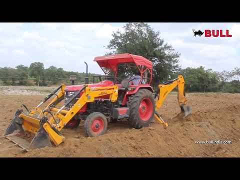 Agri Backhoe Loader in drip irrigation- Multi utility attachments
