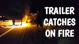 🔥Semi Trailer Catches on FIRE🔥