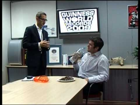 Most Jaffa Cakes in 1 min!