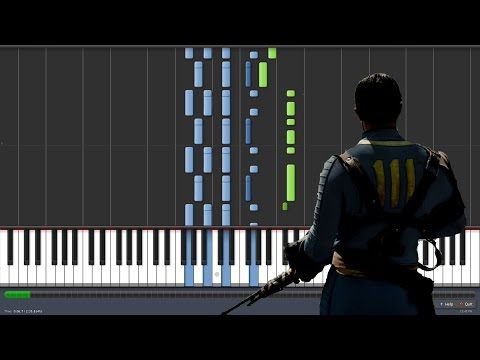 The Wanderer - Dion - Fallout 4 [Piano Tutorial] (Synthesia)