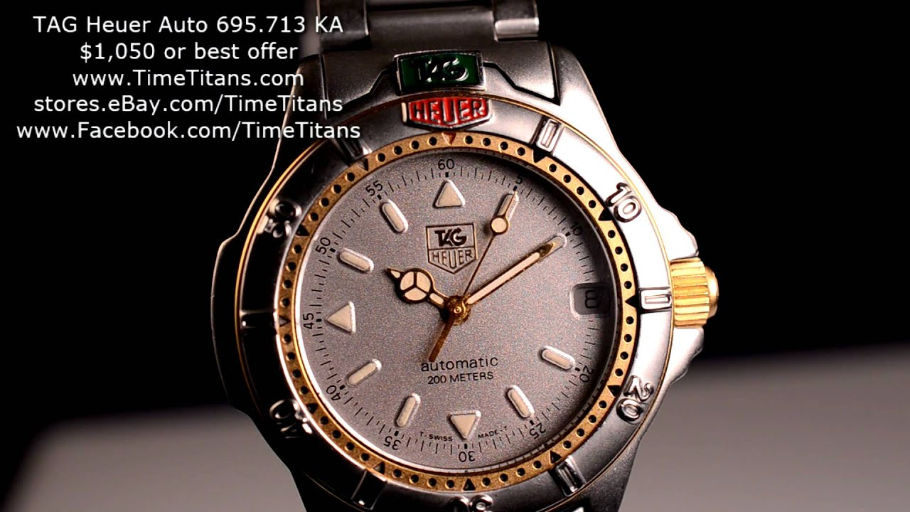 TAG Heuer Automatic Gold and Steel 200M Sapphire 695.713 KA - YouTube