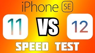 iPhone SE: iOS 11 vs. iOS 12   Тест скорости работы