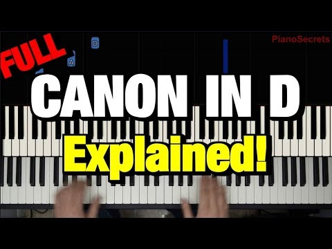 "HOW TO PLAY ""CANON IN D"" BY PACHELBEL (PIANO TUTORIAL LESSON)"
