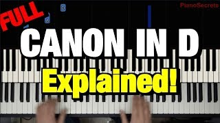 Canon in D Piano Tutorial Pachelbel (How to Play Lesson)