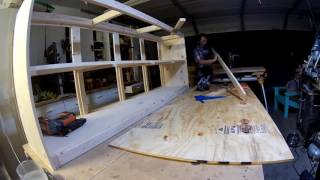 Farmhouse TV Console with Sliding Barn Doors Build - Time Lapse