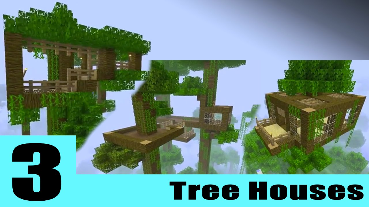 3 Basic Minecraft Tree House Idea's YouTube