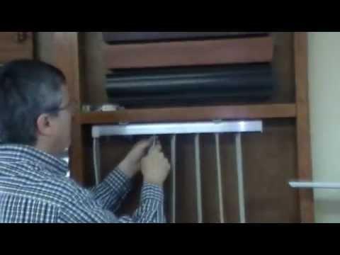 Instalacion de persianas verticales de pvc youtube for Guias para toldos verticales