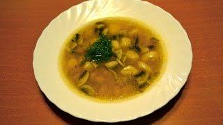 Постный фасолевый суп с грибами и клецками - видеоурок