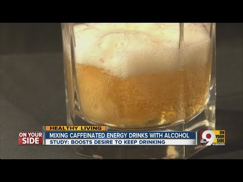 Mixing caffeine energy drinks with alcohol
