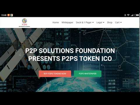 15% BONUS! BUY NOW P2PS TOKEN!!! From P2P SOLUTIONS FOUNDATION!