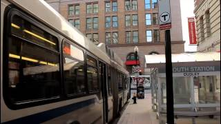 MBTA Bus: AN460LF [#1014] Silver Line 4 at Essex St & Atlantic Ave