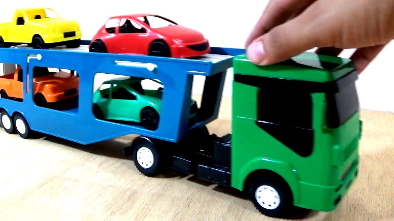 Frase Para Crianças De Carinho: Caminhão Cegonha De Brinquedo Com Carrinho De Brinquedo