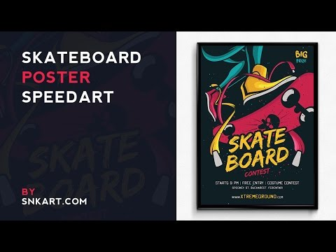 Skateboard Poster Speedart