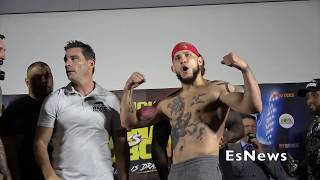 Fighters Head Butt At Weigh In Have To Be Held Back EsNews Boxing