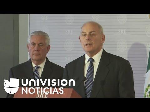 Secretario de Seguridad Nacional de EEUU dice en México que no habrá deportaciones masivas