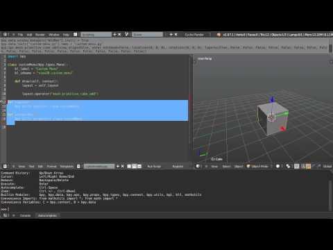 Creating a Custom Menu with Python Scripting
