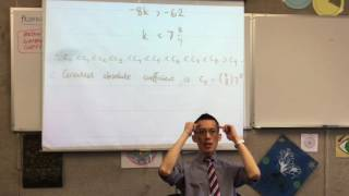 Proving Binomial Identities (5 of 6: Techniques to filter and find greatest absolute coefficient)
