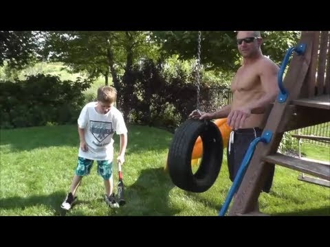 Baseball Tire Batting Drill With The Probliners Tiger