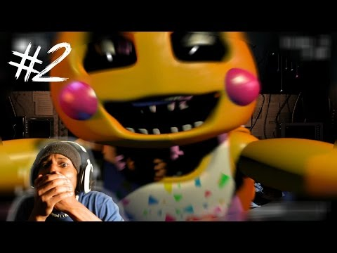 DEATH MINI-GAME!? | Five Nights At Freddy's 2 (Demo) - Night Two COMPLETE
