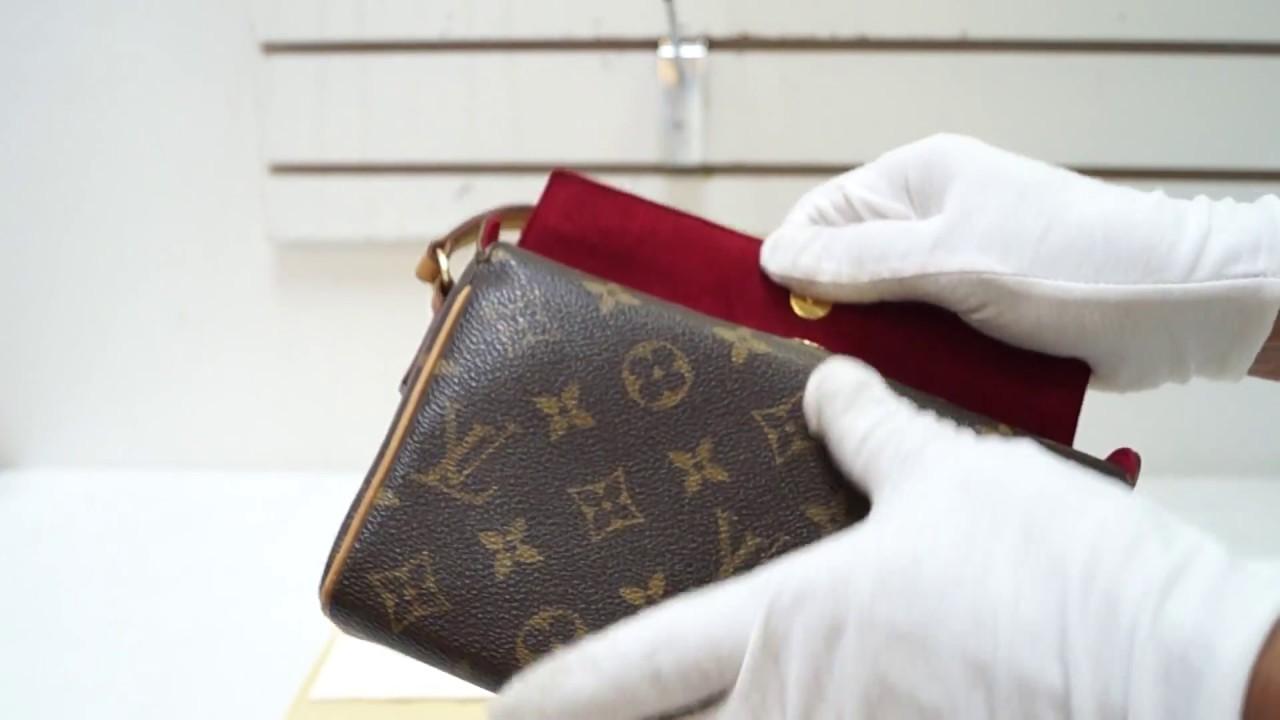 6593437bf735 E4744 Authentic Louis Vuitton Monogram Recital Hand Bag M51900 - YouTube